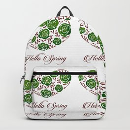 Roses floral banner with spring wishes Backpack