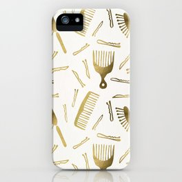 Good Hair Day – Gold Palette iPhone Case