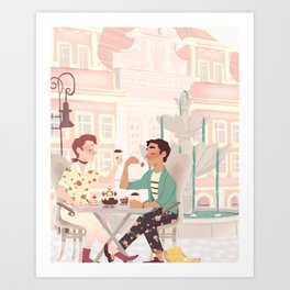 Coffee Date Art Print