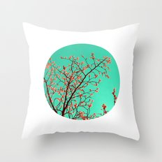 spring tree XXI Throw Pillow
