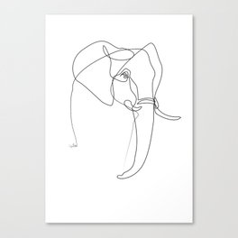 Elephant line Canvas Print