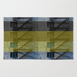 Facade with fire stairs Rug