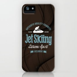 Jet Skiing Extreme Sport iPhone Case