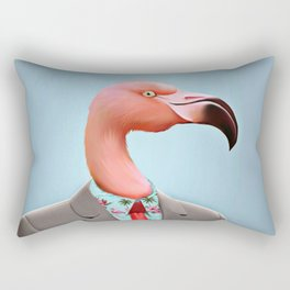 Pink Flamingo's Rectangular Pillow