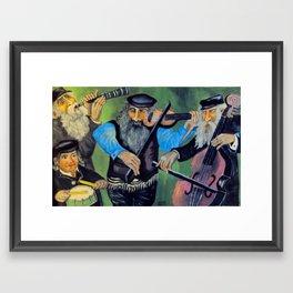 Jewish klezmer Framed Art Print