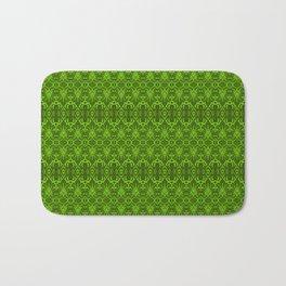 Emerald Damask Pattern Bath Mat