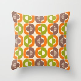 Retro Mid Century Modern Pattern 349 Throw Pillow
