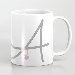 A Initial with Stitch Marker Coffee Mug
