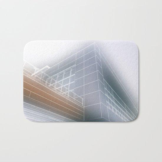 Minimalist architect drawing Bath Mat