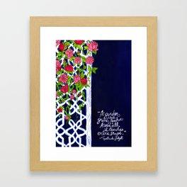 A Garden is a Teacher Framed Art Print