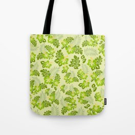 Hawaiian Pattern - Green Tote Bag