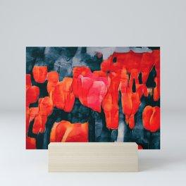 Tulip Field at Night Mini Art Print