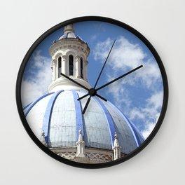 Blue Dome Wall Clock