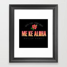 With Love, Kailua Framed Art Print