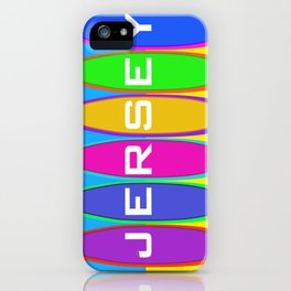 Jersey Surfboards on the Beach iPhone Case