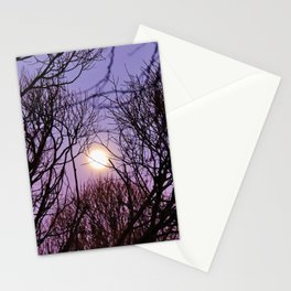 Full moon and purple sky Stationery Cards
