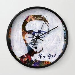 Hey Girl! Wall Clock