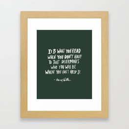 Oscar Wilde Quote Framed Art Print