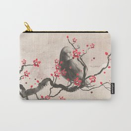 Cherry Blossom Raven Carry-All Pouch