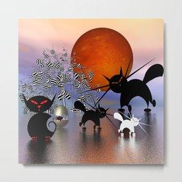 mooncats and the aliens Metal Print