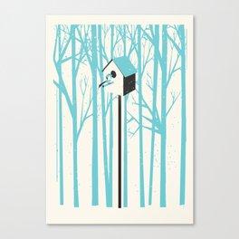 Forest 2 Bird House Canvas Print