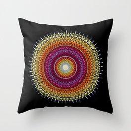 Rising Sun Mandala Throw Pillow
