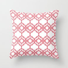 Lattice Stars in Coral Throw Pillow