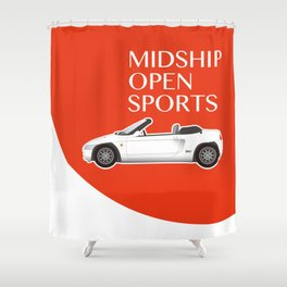 Midship Open Sports Shower Curtain