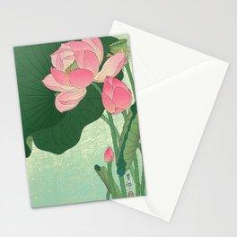 Flowering Lotus Flowers Ohara Koson Stationery Cards