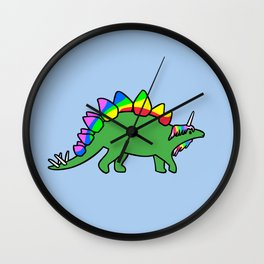 Stegocorn (Unicorn Stegosaurus) Wall Clock