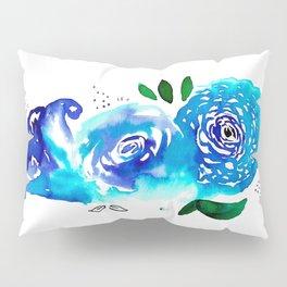 Three Blue Christchurch Roses Pillow Sham