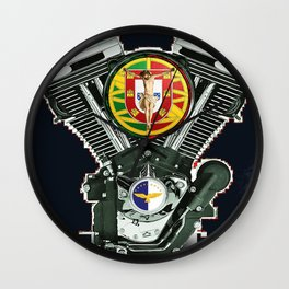 Portuguese Motorcycle Community Wall Clock