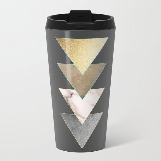 Triangled Metal Travel Mug
