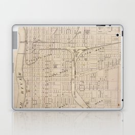 Vintage Map of Terre Haute Indiana (1876) Laptop & iPad Skin