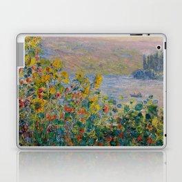 "Claude Monet ""Flower Beds at Vétheuil"" Laptop & iPad Skin"