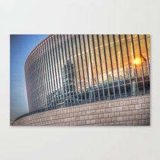 Sunset on modern architecture  Canvas Print