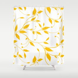 FLOWERY VINES | white yellow Shower Curtain