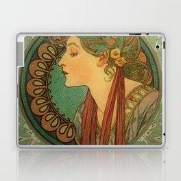 Alphonse Mucha Laurel Laptop & iPad Skin