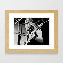 Heavy Metal Guitarist Framed Art Print