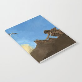 Horse and Child Children's book illustration Notebook