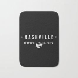 Nashville, geographic coordinates Bath Mat