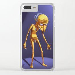 Mr.Burns painting Clear iPhone Case