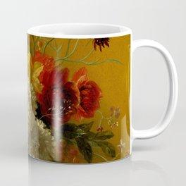 """George Jacobus Johannes van Os """"Still Life with Flowers"""" Coffee Mug"""