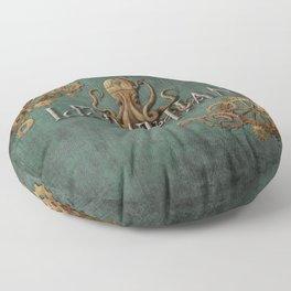 Leviathan - steampunk Floor Pillow