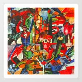 Heinrich Campendonk Bucolic Landscape Art Print