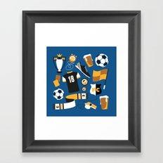 Football Fan Framed Art Print