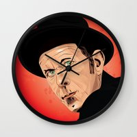 tom waits Wall Clocks featuring Tom Waits by Brian Madden