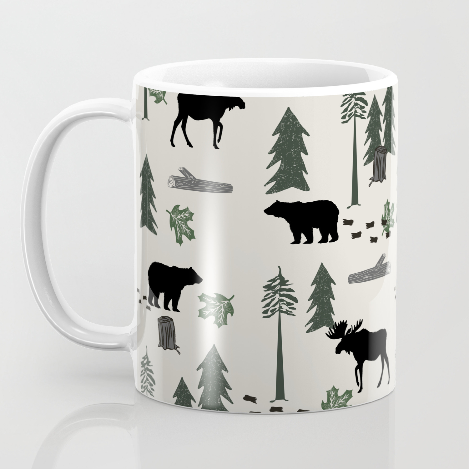 Camping woodland forest nature moose