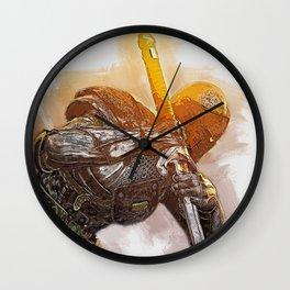 Medieval Warrior Wall Clock