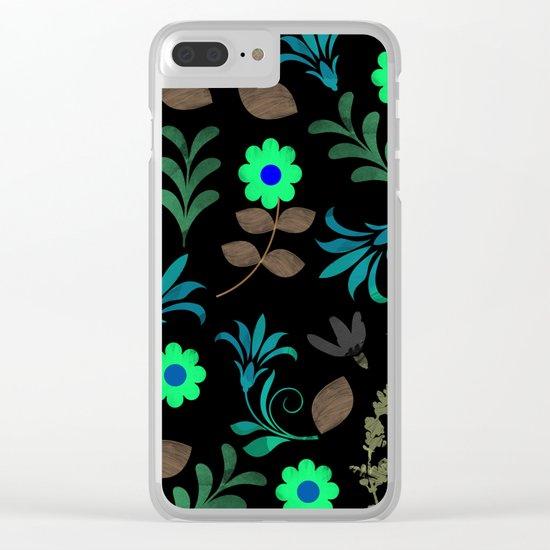 Flower Pattern XI Clear iPhone Case